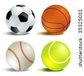 balls | Shutterstock .eps vector #35325031