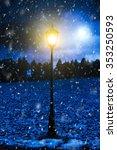 Lighten Street Lantern In A...