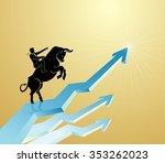 strong bull chart bullish... | Shutterstock .eps vector #353262023