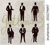 set of male silhouettes... | Shutterstock .eps vector #353279897