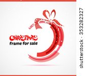 christmas gift card with red... | Shutterstock .eps vector #353282327