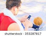 sitting player in basketball... | Shutterstock . vector #353287817
