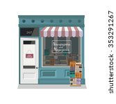 newsstand selling newspapers... | Shutterstock .eps vector #353291267