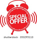 special offer alarm clock icon  ...   Shutterstock .eps vector #353295113