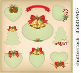 set of christmas frames vector... | Shutterstock .eps vector #353314907