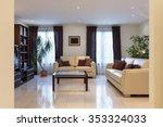 living room of a modern... | Shutterstock . vector #353324033