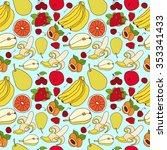 seamless fruit pattern in a... | Shutterstock .eps vector #353341433