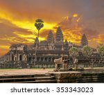 the ancient khmer temple of...   Shutterstock . vector #353343023
