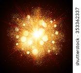 golden dust vector firework... | Shutterstock .eps vector #353362337