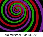 spiral abstract. 3d | Shutterstock . vector #35337091