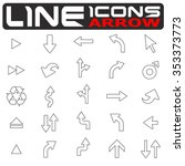 vector line arrow icons set