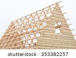 Wood Frame House Roof