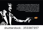 vector bw illustration.... | Shutterstock .eps vector #353387357