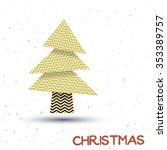 christmas tree with abstract... | Shutterstock .eps vector #353389757