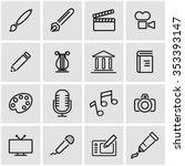 vector line art icon set.    Shutterstock .eps vector #353393147
