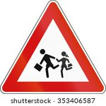 slovenia road sign   playing... | Shutterstock . vector #353406587