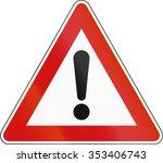 slovenian road warning sign  ... | Shutterstock . vector #353406743