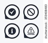 information icons. stop... | Shutterstock . vector #353408483