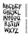 hand drawn grunge font....