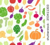 seamless pattern with... | Shutterstock .eps vector #353411303