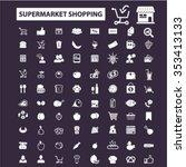 supermarket shopping retail ... | Shutterstock .eps vector #353413133