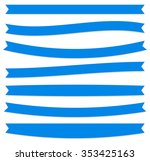 set of oblong  flat banner