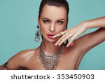 beauty portrait of young swag... | Shutterstock . vector #353450903