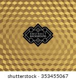 abstract golden monochrome... | Shutterstock .eps vector #353455067