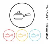 pot line icon | Shutterstock .eps vector #353470763