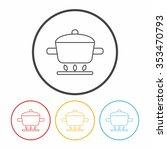 pot line icon | Shutterstock .eps vector #353470793
