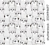 Meerkat Seamless Pattern