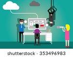 data security concept  flat...   Shutterstock .eps vector #353496983
