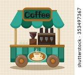 shop store cart theme elements | Shutterstock .eps vector #353497367