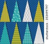 vector set of abstract... | Shutterstock .eps vector #353499797