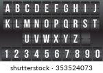 vector scoreboard  retro flip... | Shutterstock .eps vector #353524073