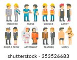 flat design people with... | Shutterstock .eps vector #353526683