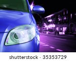 great car   front side  half.... | Shutterstock . vector #35353729
