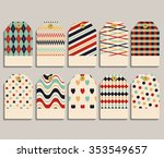 vector set gift tags  stickers... | Shutterstock .eps vector #353549657