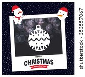 hristmas ball ornaments card... | Shutterstock .eps vector #353557067