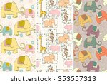 hand drawn seamless pattern... | Shutterstock .eps vector #353557313