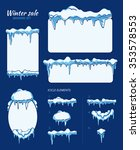 winter sale stickers  tags and... | Shutterstock .eps vector #353578553