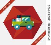transportation truck flat icon... | Shutterstock .eps vector #353584433