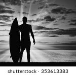 Concept Of Sport. Surfers...