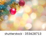 christmas decoration on... | Shutterstock . vector #353628713