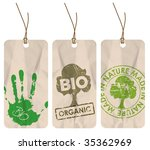 set of three grunge tags for... | Shutterstock .eps vector #35362969