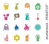 gardening icons set.  | Shutterstock .eps vector #353637137