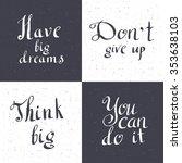 set of inspiration hand... | Shutterstock .eps vector #353638103