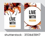 live with passion inspirational ... | Shutterstock .eps vector #353665847