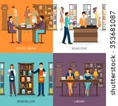 set of 2x2 images presenting... | Shutterstock .eps vector #353681087