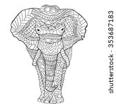 hand drawn elephant . isolated...   Shutterstock .eps vector #353687183